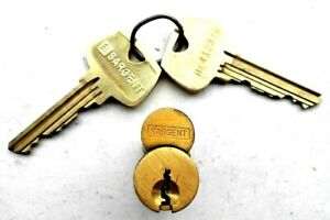 Sargent I c Core With 2 Keys 6 Pin Locksmith Collectors