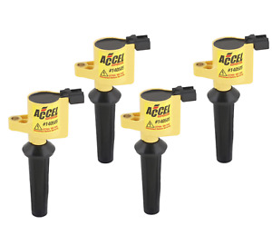 Accel 140505 4 Ignition Coil Supercoil 4 Pack Coil On Plug Mazda Ford I4 New
