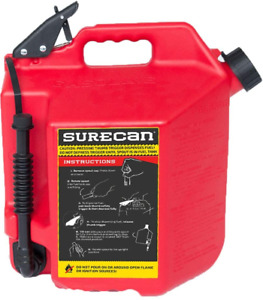 Surecan Easy Pour Rotating Nozzle 5 Gallon Flow Control Gas Container Can Red