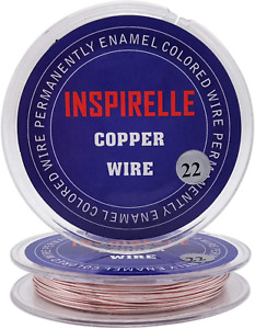 Inspirelle 22 Guage Tarnish Resistant 82 Feet Pink Copper Wire Jewelry Making Cr