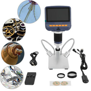 1080p Digital Microscope Video Magnification Coin Camera Usb 8 led Lcd Monitor