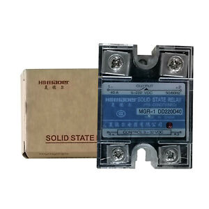 Us Stock 40a Solid State Relay Ssr Dc dc Input 3 32v Dc Load 5 220v Dc Dd220d40