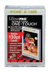 25 Ultra Pro 130pt Rookie Magnetic One Touch Uv Card Holders Thick Jersey Cards