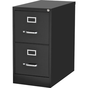 Lorell File Cabinet 15 X 22 X 28 4 2 drawer Black Commercial grade Vertical