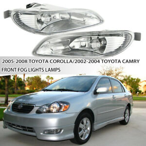 Fit 2002 2004 Toyota Camry2005 2008 Toyota Corolla Front Clear Fog Lights Lamps