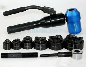 Tpa 8 6ton Hydraulic Knockout Punch Driver Kit Hand Pump Hole Tool 11 gauge