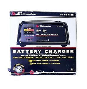 Schumacher Se 1010 2 10 2 Amp Dual Rate Battery Charger With Manual Tested