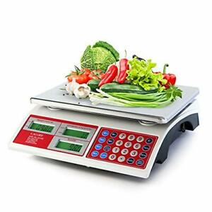 Camry Digital Commercial Price Scale 66lb 30kg For Food Meat Fruit Produce Wit