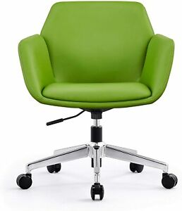 Lonabr Low Back Office Desk Swivel Chair Pu Leather Executive Upholstered Task