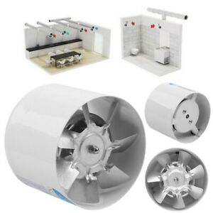 4 6inch Inline Duct Booster Fan Ventilation Exhaust Air Blower 20 40w 140 260cfm