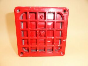 Vintage Simplex Audible Signal Appliance Horn 4050 Red Fire Alarm W 4x4 Grill