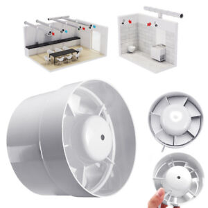 White Inline Duct Fan Booster Blower Exhaust Blower Air Cooling Fliter Vent