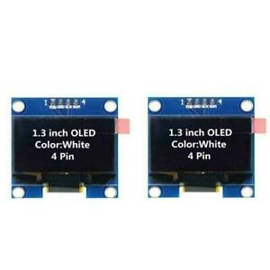 2x 1 3 Ssd1106 I2c 128x64 Oled Display Module Board For Arduino White Us Seller