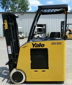 Yale Esc030fan 2002 3000 Lbs Capacity Great Electric Stand Up Docker Forklift
