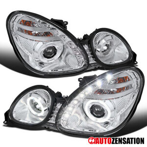 For 1998 2005 Lexus Gs300 Gs400 Halo Projector Headlights W Led Left Right