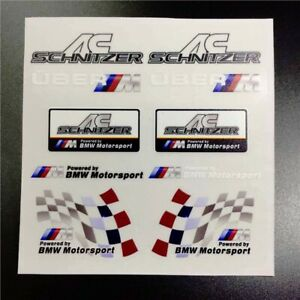 Car Emblem Decals For Powered By Bmw Motorsport Ac Schnitzer Auto Badge Stickers