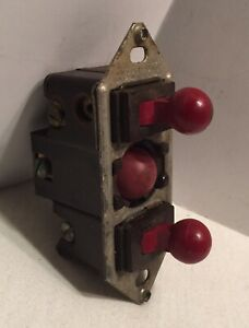 Vintage H h Switch 2 Toggle 1 Push Button Red Appliance 120 250 V