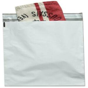 12x15 Poly Mailers Shipping Envelope Mailer Bags Peel Seal White 100 Pack