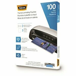 Fellowes Thermal Laminating Pouches sheets Letter Size 9 x 11 5 3 Mil 100 Pk