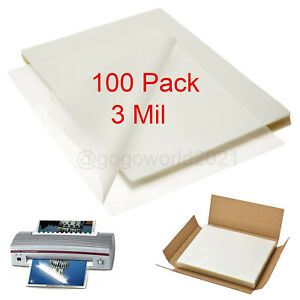 100 Pack Laminating Pouches 3 Mil Legal Size 9 X 11 5 Sheet Thermal Heat Seal