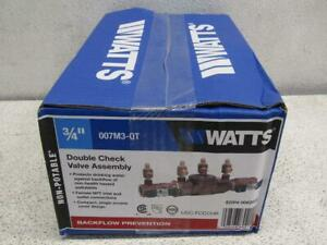 Watts 3 4 007m3 qt Double Check Valve Assembly