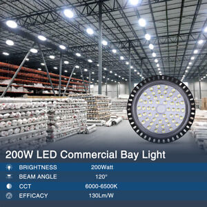 200w Ufo Led High Bay Light Factory Warehouse Shop Gym Commercial Lamp Fixture