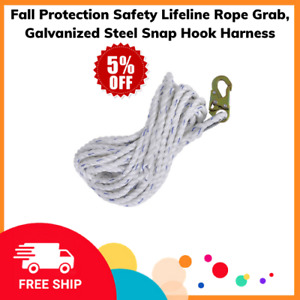 Fall Protection Safety Lifeline Rope Grab Galvanized Steel Snap Hook Harness