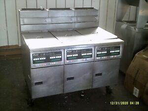 Pitco Frialator 3 Section Gas Deep Fryer W Mobile Filtering System