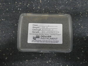 Denver Instruments 820020 2 20g Stainless Steel Calibration Weight