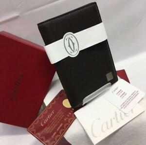 Cartier Agenda Notebook Cover Dark Brown Leather Never Used In Box