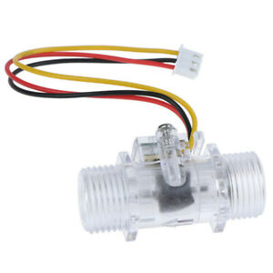 Clear Water Flow Sensor Switch G1 2 Hall Effect Meter Control Dc 5 15rc