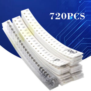 720pcs 0805 Smd Capacitor Assorted Kit Samples Kit 36 Values 1pf 10uf 106