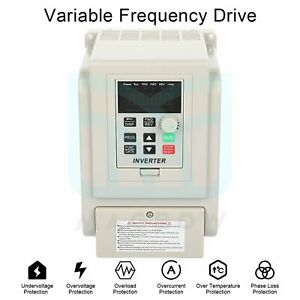 220v 1 5kw Variable Frequency Drive Inverter Vfd Single To 3 Phase 2hp