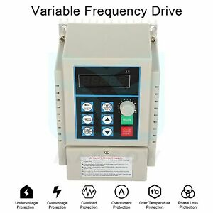 220v Single To 3 Phase 0 6hp 3a Vfd 0 45kw Variable Frequency Drive Inverter