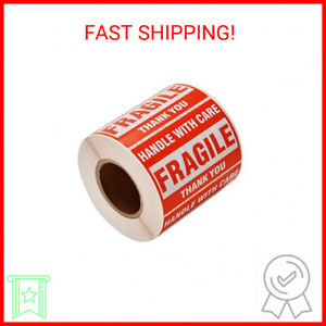 1 Roll 500 Labels 2 X 3 Fragile Stickers Handle With Care Warning Packi