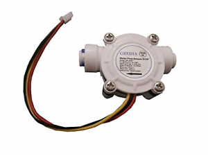 Gredia 1 4 Quick Connect Water Flow Sensor Food grade Switch Hall Effect Fluid