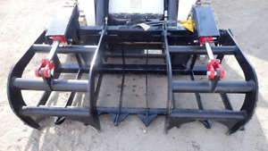 New Usa 60 5 Skid Steer Loader compact Tractor Light Weight Grapple Root Rake