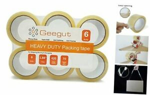 Clear Shipping Packing Tape Heavy Duty Packaging Tape Refill Rolls 6 Rolls