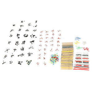 Lot 1500pcs Electronic Components Led Diode Transistor Capacitor Resistance Kit