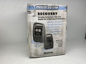 Robinair Cooltech Model 25201b Portable Oil less Refrigerant Recovery Machine
