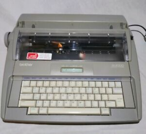 Brother Sx 4000 Electronic Typewriter W Keyboard Cover tested Nice
