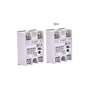 2pcs Ssr 40da Solid State Relay Single Phase Semi conductor Relay Input 3 32v Dc