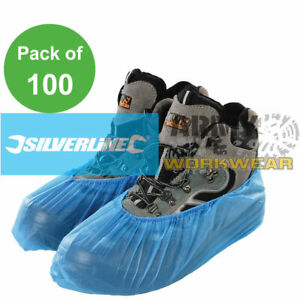 Silverline Disposable Shoe Covers 100pk One Size Overshoe Boot Protection