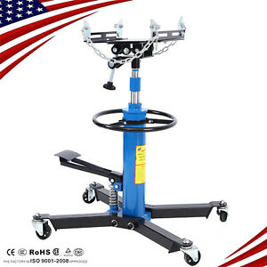 1100 Lbs Transmission Jack 2 Stage Hydraulic W 360 For Car Lift 0 5 Ton New