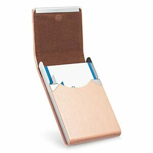 Facath Business Card Holder Luxury Microfiber Leather Business Card Case Meta