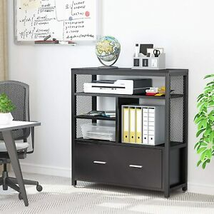 Modern Lateral File Cabinet W Letter Size Drawer Metal Panel Filing Cabinet