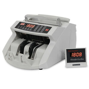 New Money Bill Counter Machine Cash Counting Counterfeit Detector Uv Mg Bank