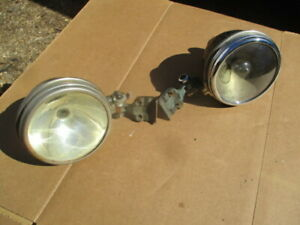 1919 1920 S 5 Inch Brass Open Car Clamp On Windshield Posts Spotlights