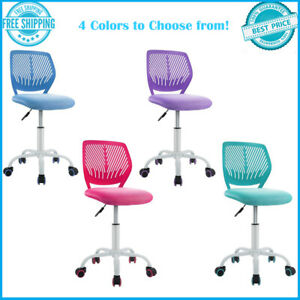 Multipurpose Adjustable Office Task Desk Armless Chair With Heavy duty Base New