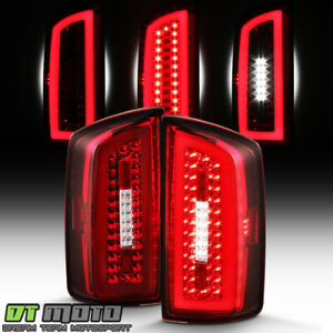 2007 2008 Dodge Ram 1500 2500 3500 Red Clear Led Light Tube Tail Lights Lamps Fits 2008 Dodge Ram 1500